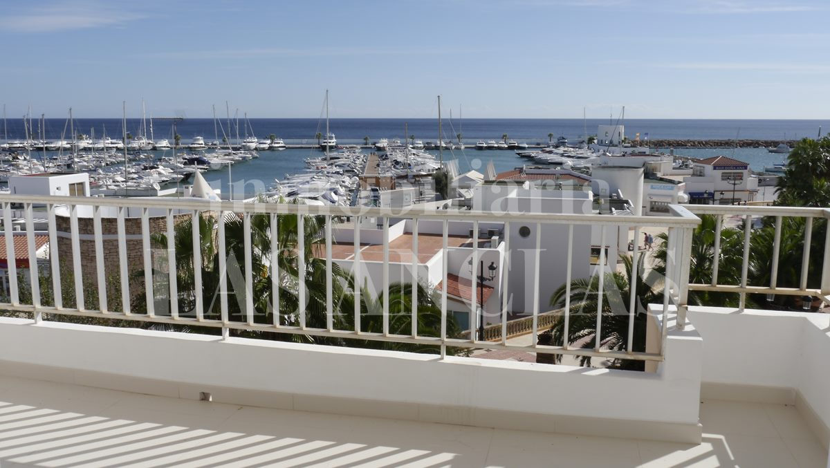 frontal views of the harbour and the sea - flat / apartment in Santa Eulalia Ibiza for sale