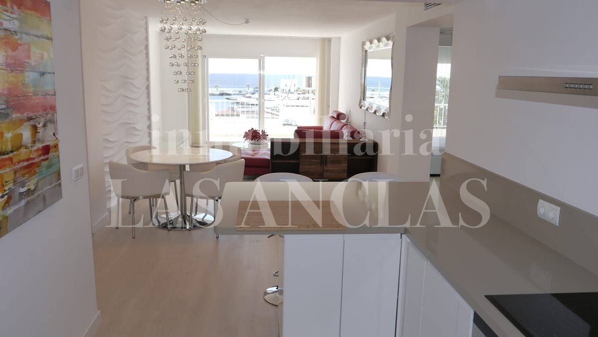kitchen with views - flat / apartment in Santa Eulalia Ibiza for sale