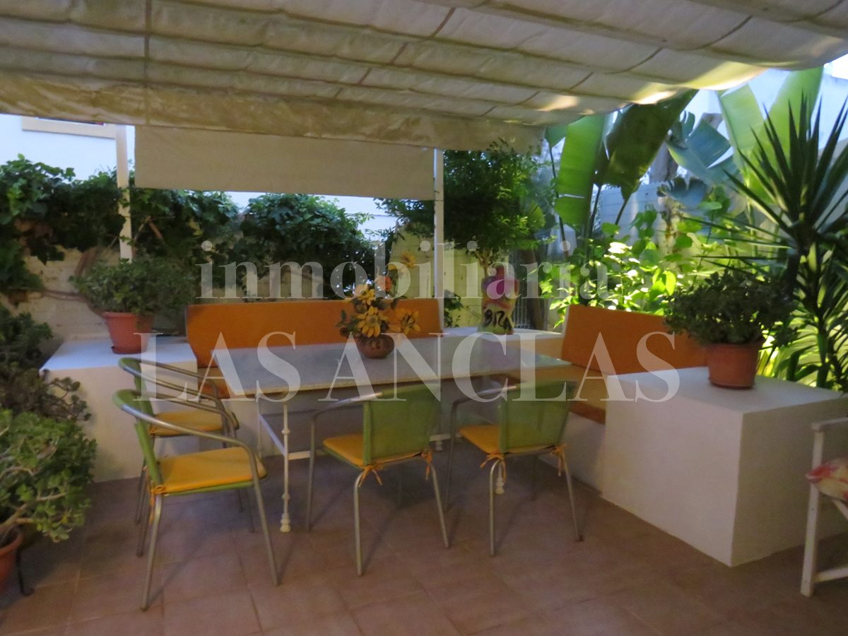 corner terraced house in Talamanca Ibiza for sale
