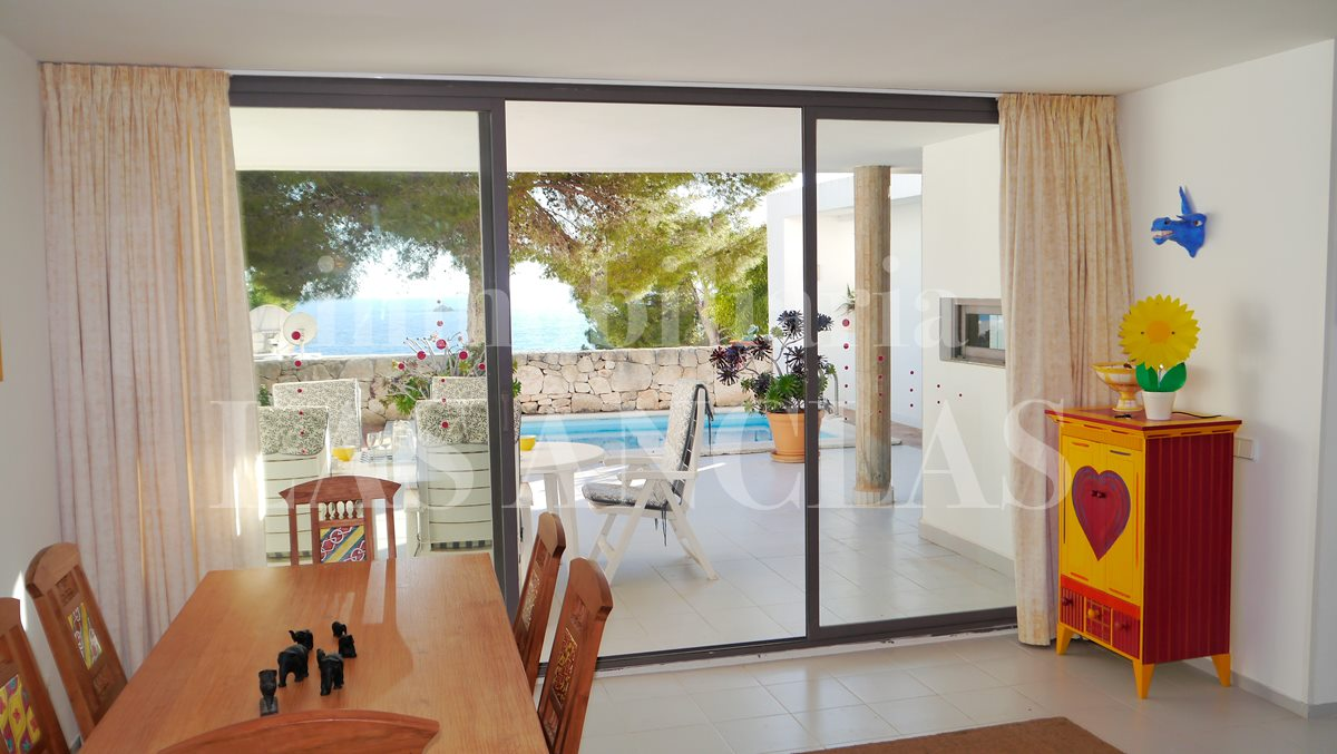 Living-/dining room next to the kitchen with sea views - flat / apartment in Urbanisation Roca Llisa Ibiza for sale