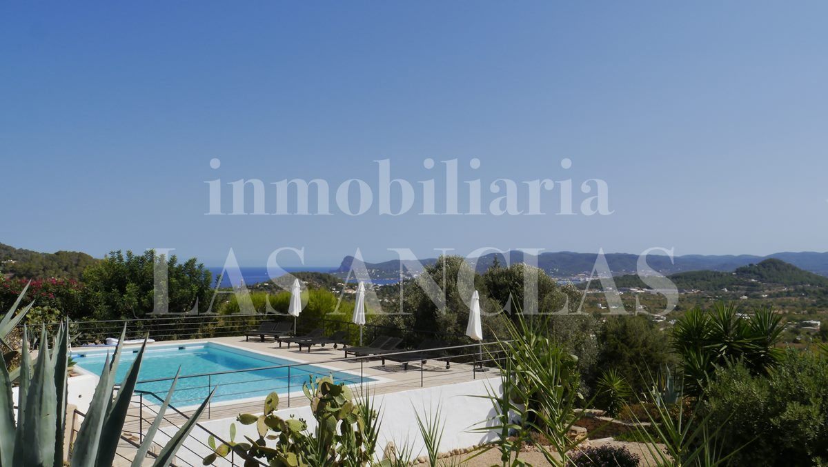 countryside villa with large pool and panoramic views - authentic finca mansion in San José Ibiza for sale