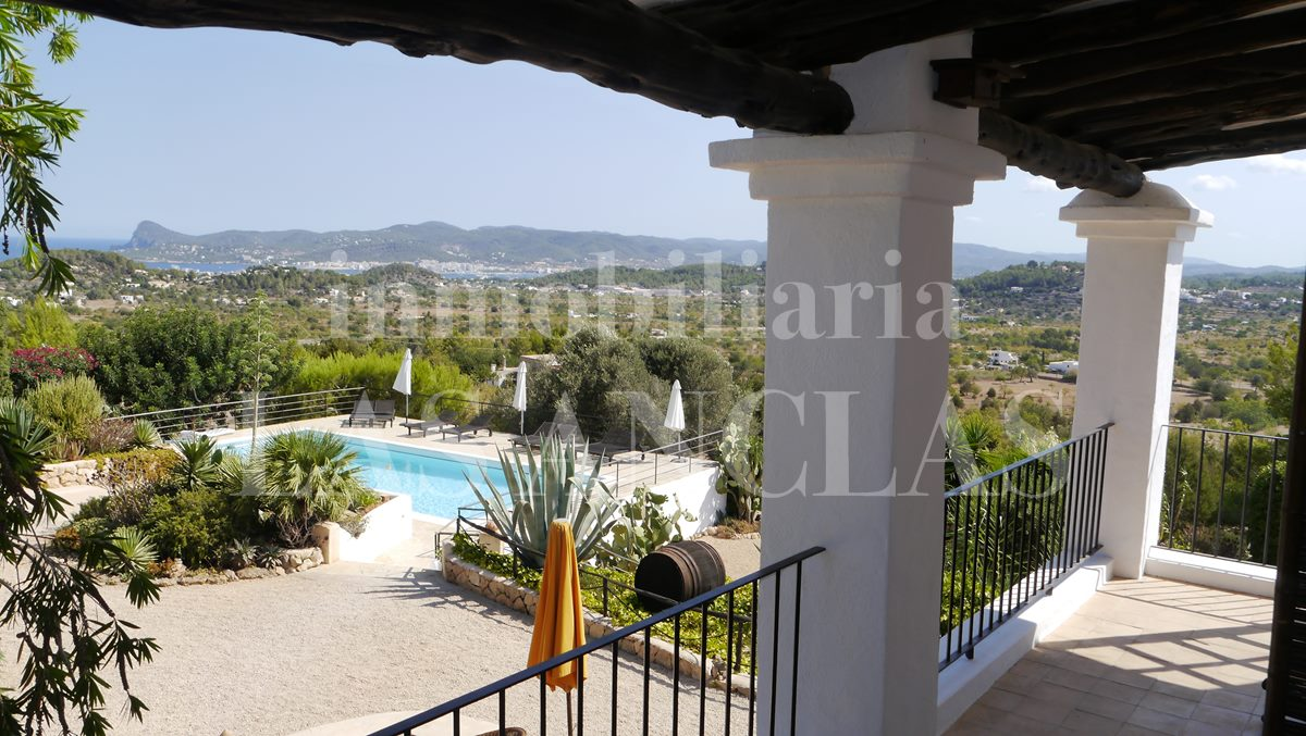 views of a magnificent Ibiza landscape - authentic finca mansion in San José Ibiza for sale