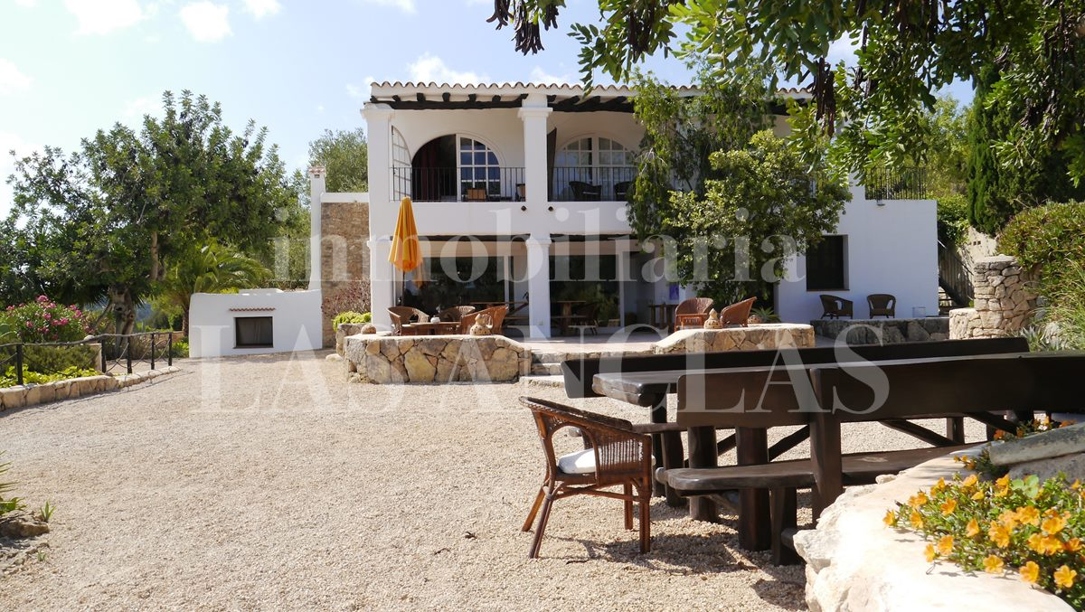 typical architecture of Ibiza mansions - authentic finca mansion in San José Ibiza for sale