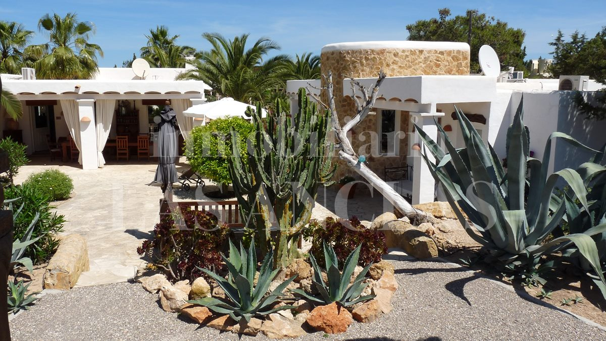 guest house with nartural stone tower and mainhouse terrace - mansion / manor house in San José Ibiza for sale