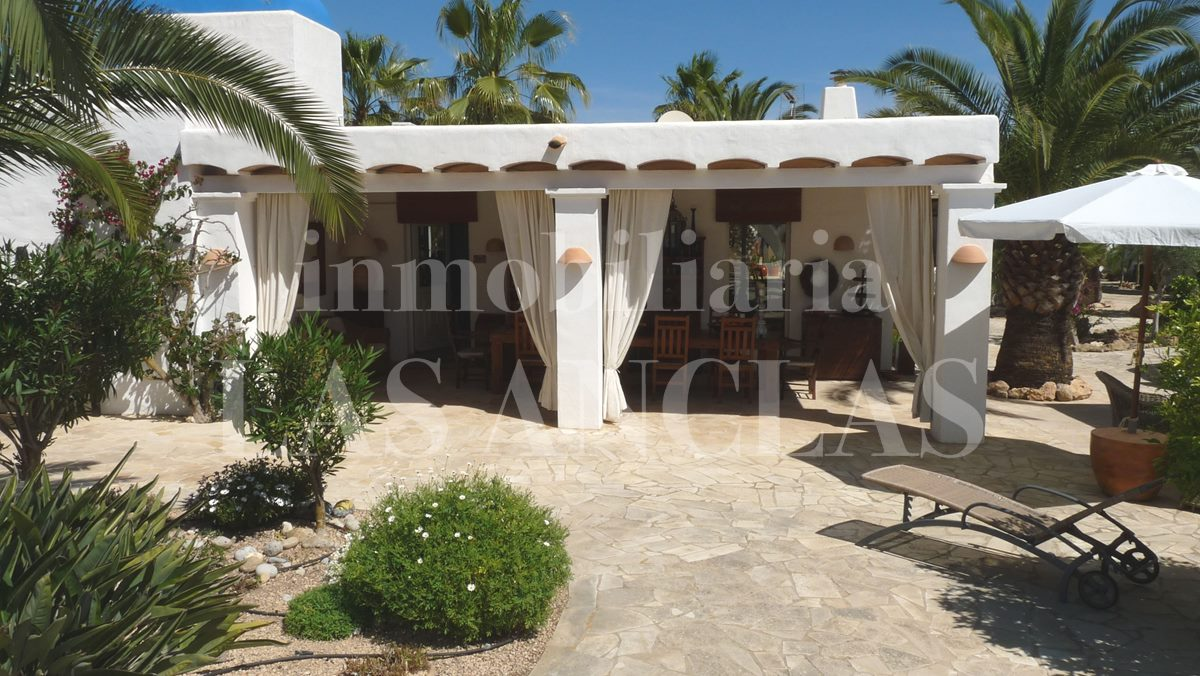main house terrace - mansion / manor house in San José Ibiza for sale