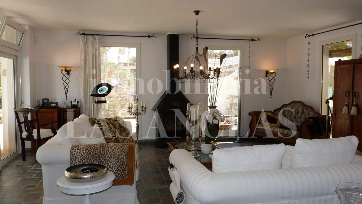 living room of main house - mansion / manor house in San José Ibiza for sale