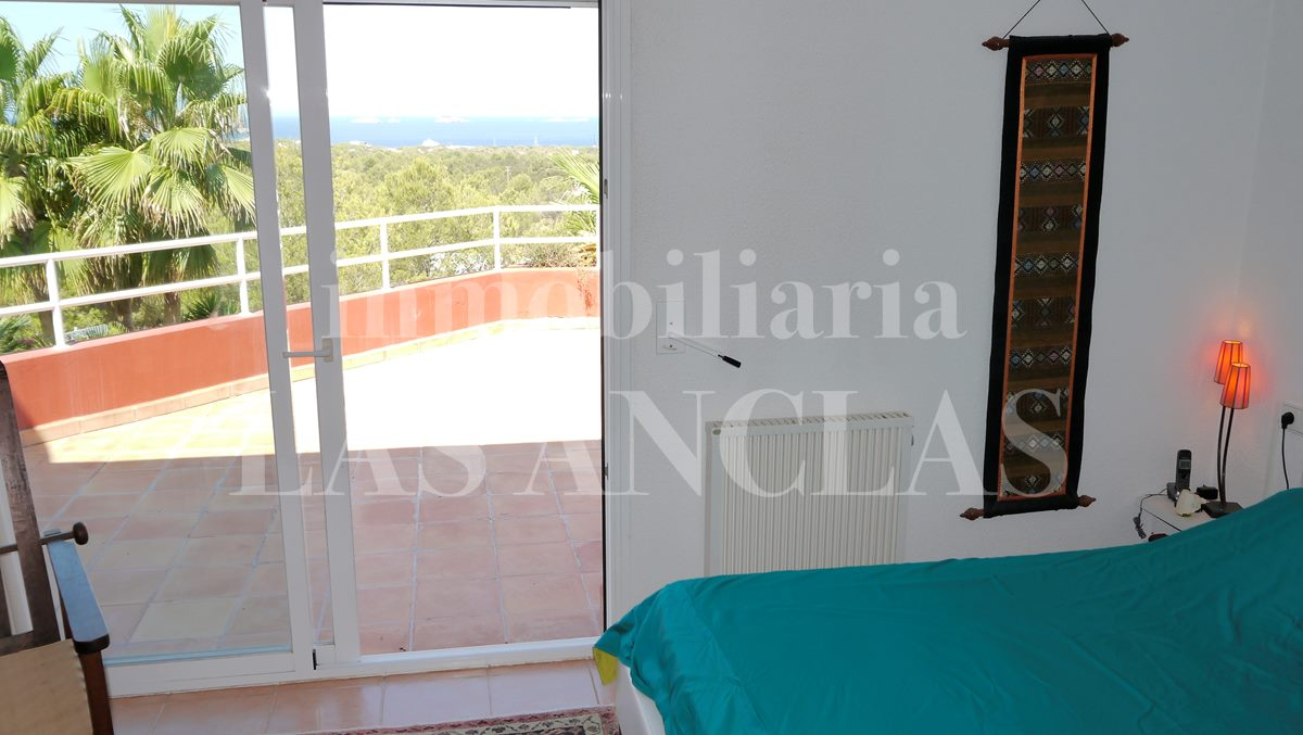 Ibiza Cala Conta - Villa near to the beach overlooking the sea and romantic sunsets for sale