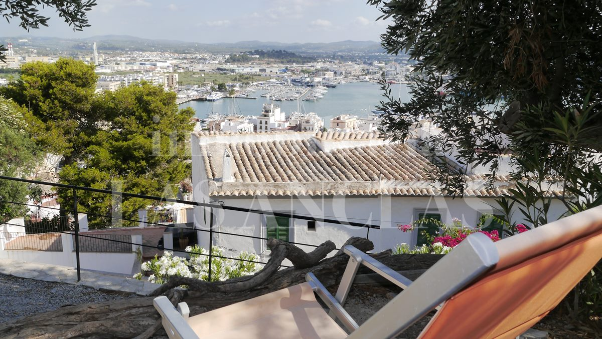 views direction Nueva Ibiza port - flat / apartment in Dalt Vila Ibiza for sale
