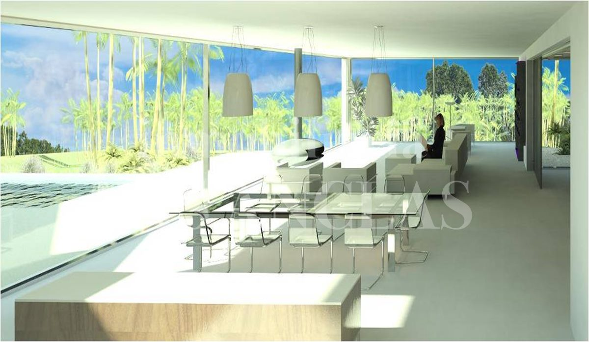Ibiza west coast - Plot of land with project to build a spacious designer villa for sale