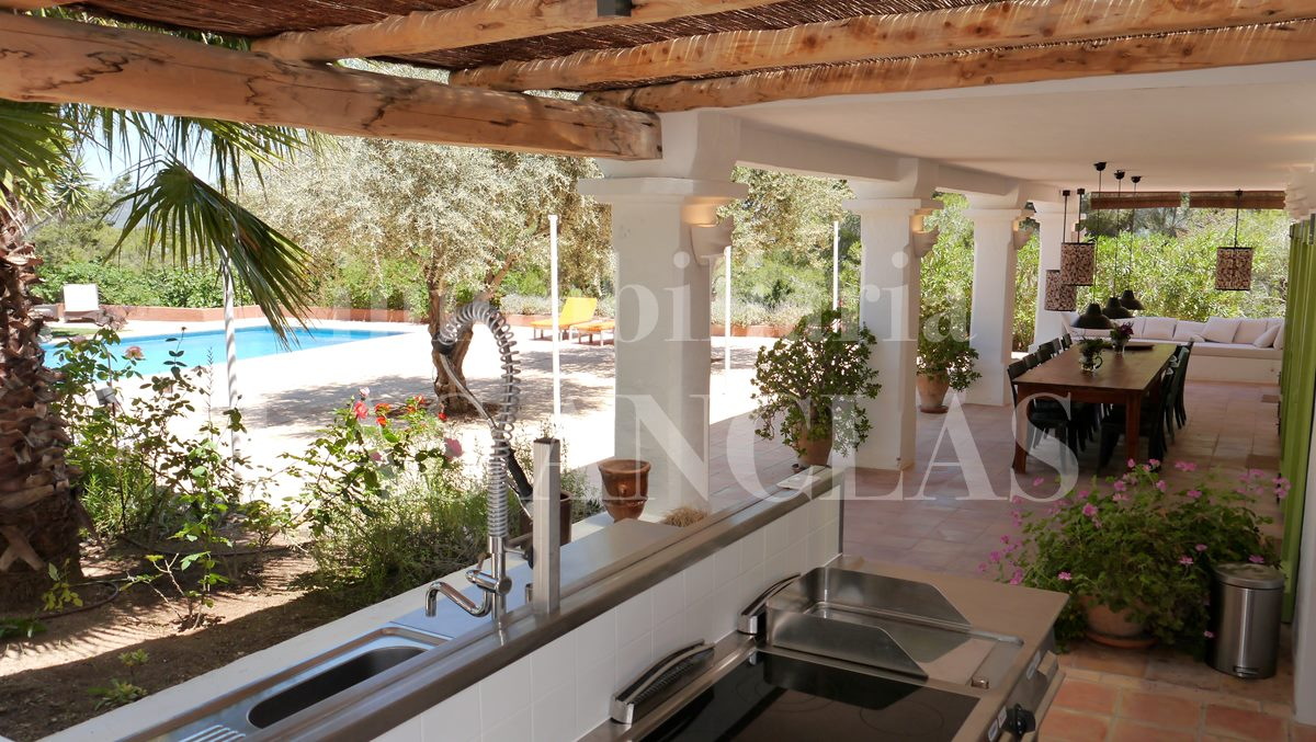 authentic finca mansion in Benimussa Ibiza for sale