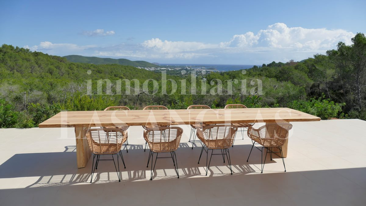 Ibiza Santa Eulalia - Very spacious, modern luxury country villa with magnificent sea views for sale