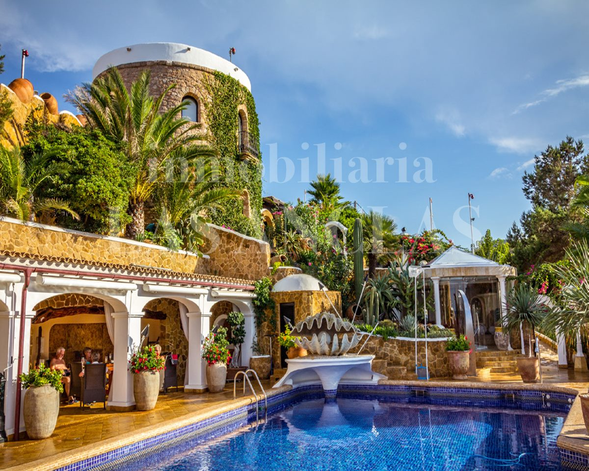 Charming architecture with natural stone tower - luxury mansion / estate in San Juan Ibiza for sale