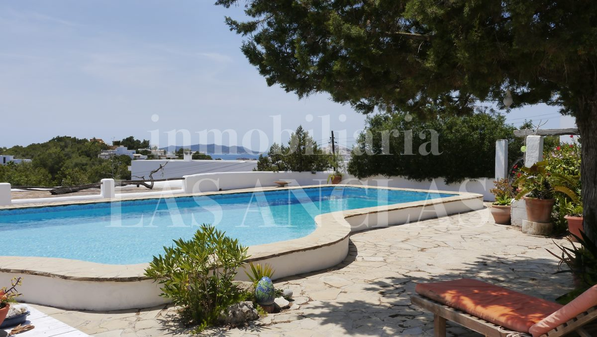 12x4m swimming pool with great views to the sea and to Dalt Vila - finca / farm house in Jesús Ibiza for sale