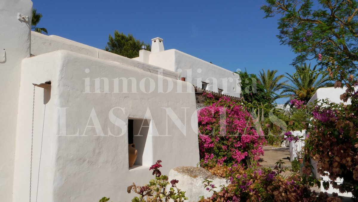 Charming typical farmhouse with authentic details like thick and natural stone walls - finca / farm house in Santa Gertrudis Ibiza for sale