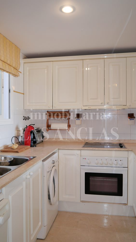 Completely furnished kitchen with sea views - flat / apartment near golf course Ibiza for sale