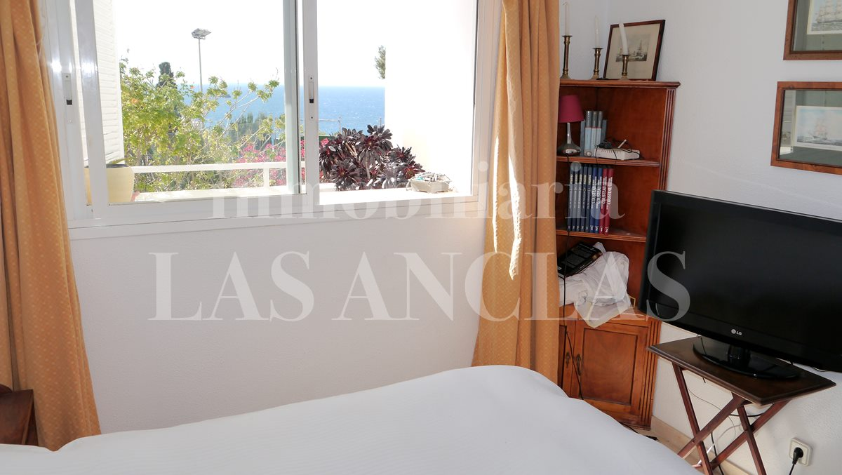 Bedroom with built-in wardrobe and views - flat / apartment near golf course Ibiza for sale