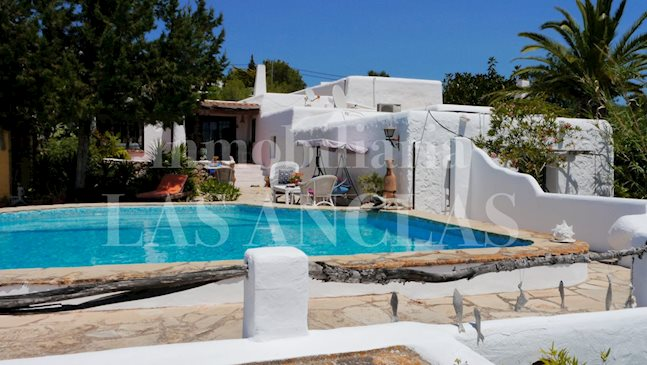 Ibiza Jesús - Authentic Ibizan finca with views in popular location near the beach to buy