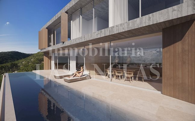 Ibiza Ibiza / Eivissa - Plot of land with sea views and building license for a modern luxury villa to buy