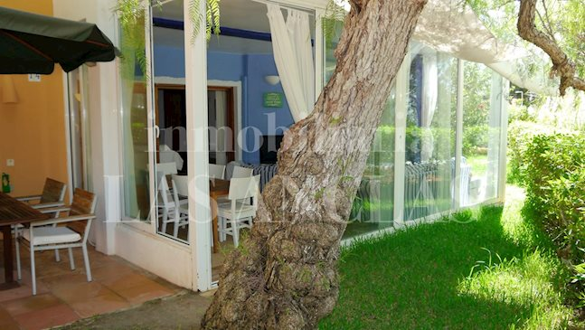 Ibiza Talamanca - Bright ground floor flat with private garden and distant sea views for sale