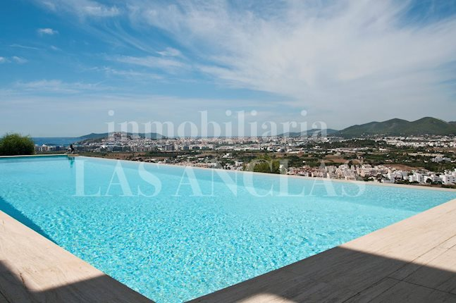 Ibiza Jesús - Minimalist luxury villa with panoramic sea and landscape views for sale
