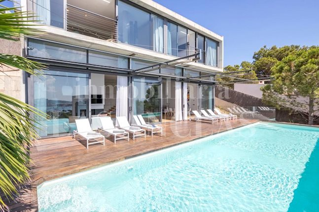 Ibiza Talamanca - Designer villa with elevator, 15m pool and views of the sea and Dalt Vila for sale
