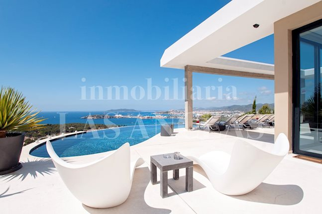 Ibiza Talamanca - Tourist rental license! Magnificent luxury villa with splendid panoramic views to buy