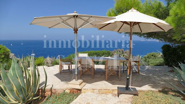 Ibiza west coast - Luxury summer residence in 1st sea line with panoramic sea views to buy