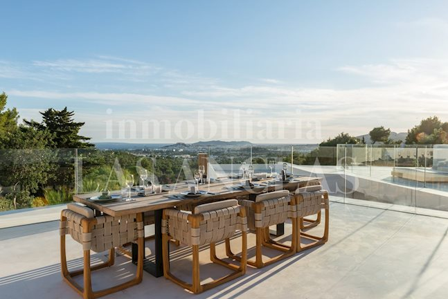 Ibiza Jesús - Newly built, first-class luxury designer villa with views of Dalt Vila to buy