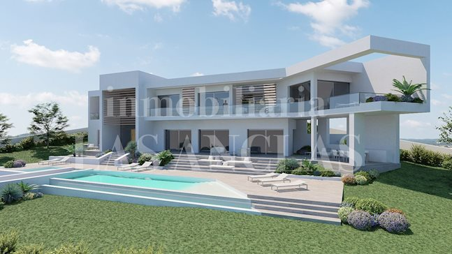 Ibiza Jesús - Building plot with project for a modern luxurious designer villa of 739m² to buy