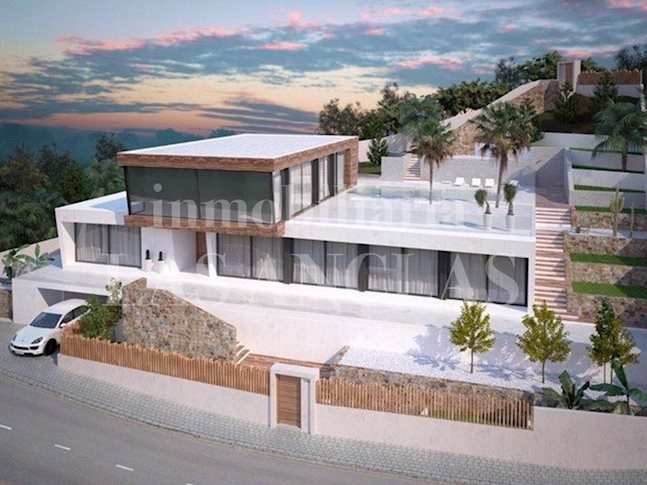 Ibiza Jesús - Building plot with license for a 5-bedroom designer villa with 12m pool to buy